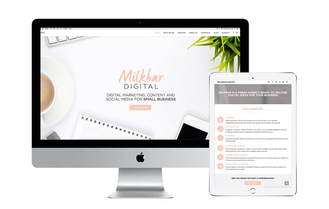 Milkbar Digital Website Management Services