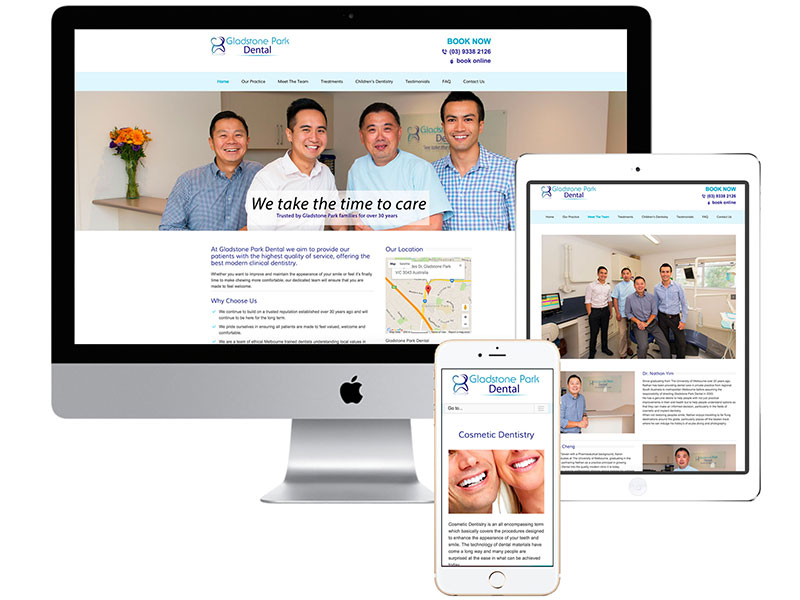WEBSITE: Gladstone Park Dental
