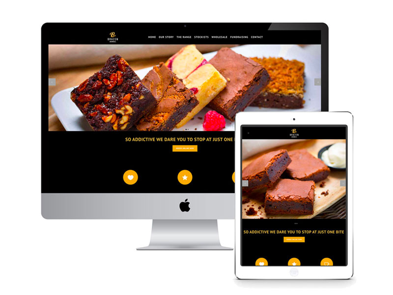 WEBSITE: BRAZEN BROWNIES