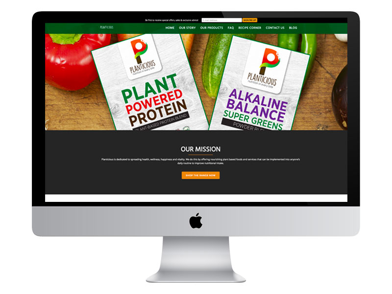 E-COMMERCE WEBSITE: Planticious